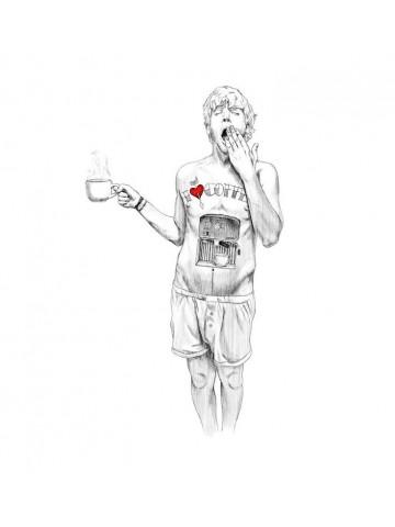 Lámina Hombre Cafetera - Javier Rubín