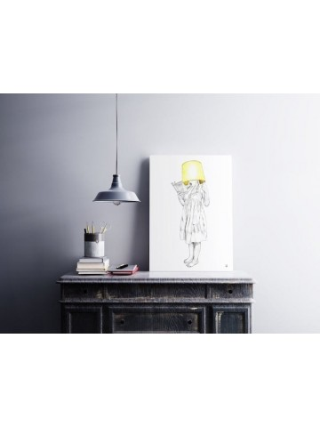 Lámina La Mujer Lámpara - Javier Rubín