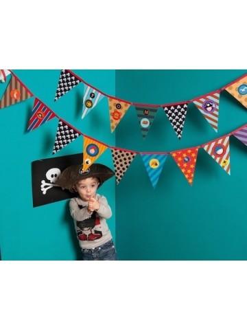 Set de banderines piratas