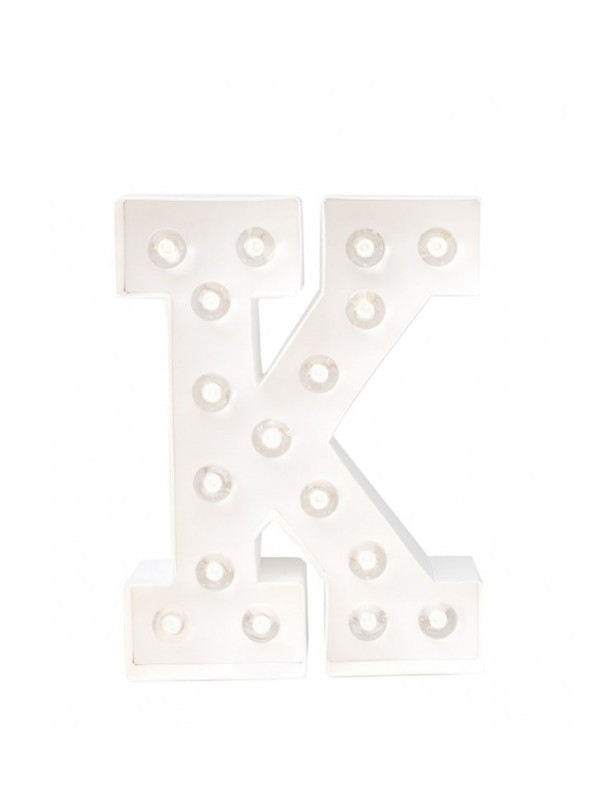 K - Letra Luminosa Marquee Love