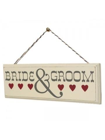 Letrero Bride & Groom