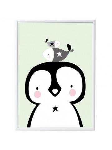 Póster Pingüino