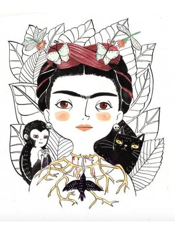 Lámina Frida Cuervo