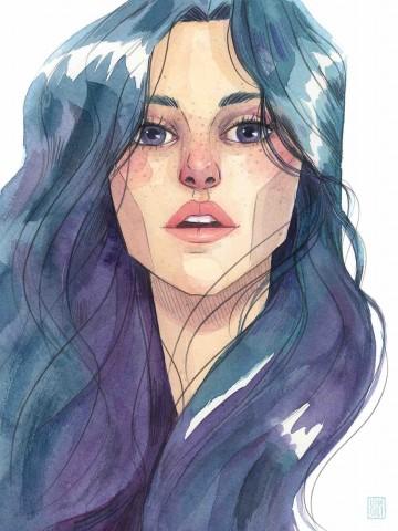 Lámina Casi Azul - Esther Gili