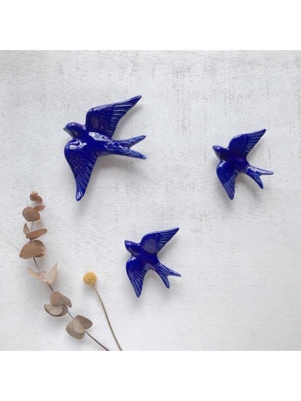 Golondrinas de cerámica Azul índigo