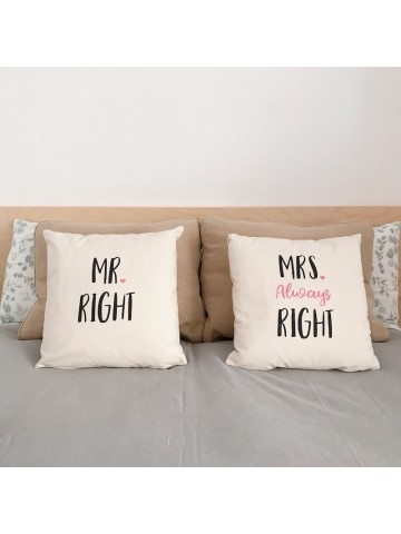 Cojines Mr & Mrs