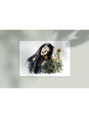 Lámina Flores amarillas - Belén Diz